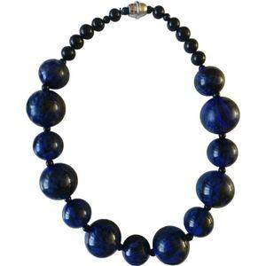 🇨🇦 Vintage statement wooden beads necklace